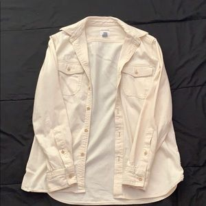 Old Navy Off White (colored) Button Up Shirt